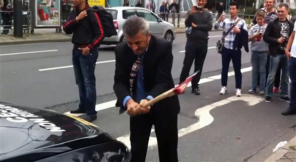 Man smashes own BMW M6