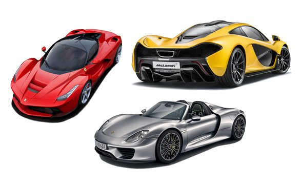 mclaren p1 vs laferrari vs porsche 918 spyder comparison car news sep 2013. Black Bedroom Furniture Sets. Home Design Ideas