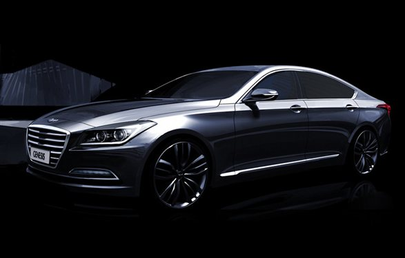 2015 Hyundai Genesis teased | New Release - Car News Oct 2013