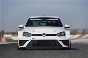 VW Golf on the track