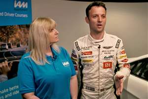 F1 racer in new safety vid