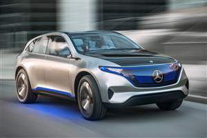 Merc EV concept in Paris